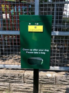 Dog waste dispenser Litchard Fields